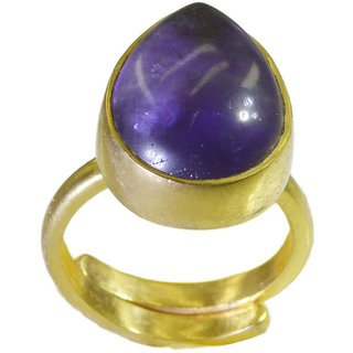 Amethyst CZ Gold Pleted Ring beauteous Purple indian Indian gift