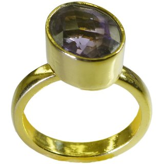Amethyst CZ Gold Pleted Ring well-favored Purple Designer Indian gift