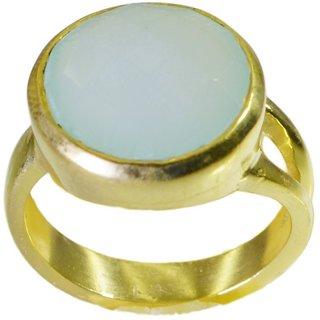 Blue Chalcedony Gold Pleted Ring better Blue handmade  Indian gift