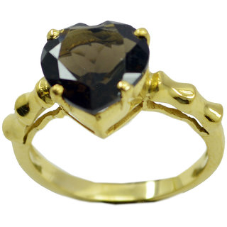 Smoky Quartz Gold Pleted Ring nubile Brown indian Indian gift