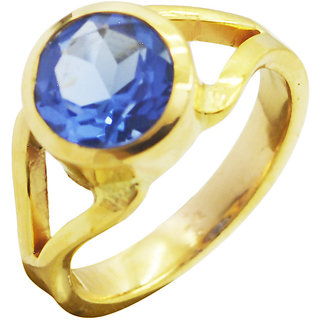 Blue Shappire CZ Gold Pleted Ring yummy Blue indian Indian gift