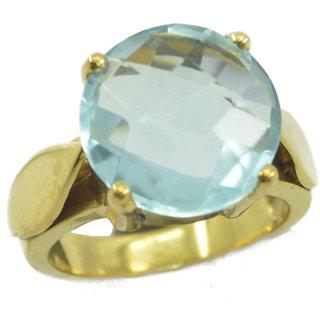 Blue Topaz CZ Gold Pleted Ring resplendent Blue supply Indian gift