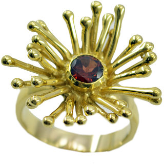 Garnet Gold Pleted Ring glorious Red indian Indian gift