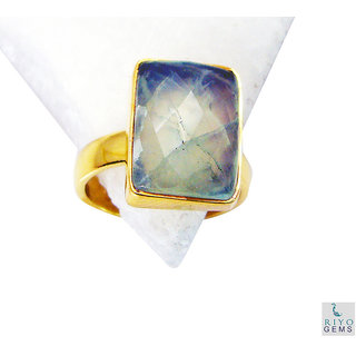 Prehnite Gold Pleted Ring cute Green handcrafted Indian gift
