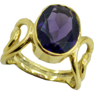 Amethyst CZ Gold Pleted Ring seductive Purple jewellery Indian gift