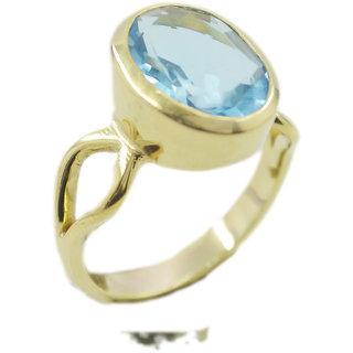 Blue Topaz CZ Gold Pleted Ring radiant Blue exporter Indian gift