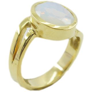 Fire Opal CZ Gold Pleted Ring charming White supply Indian gift