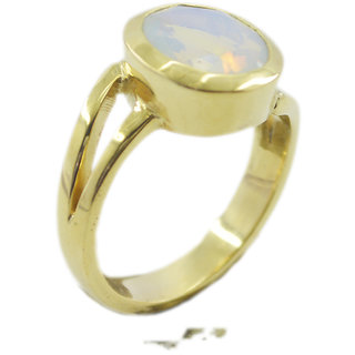 Fire Opal CZ Gold Pleted Ring elegant White handcrafted Indian gift