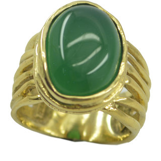 Green Onyx Gold Pleted Ring foxy Green gemstone Indian gift