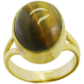 Tiger Eye Gold Pleted Ring inviting Multicolor gemstones Indian gift