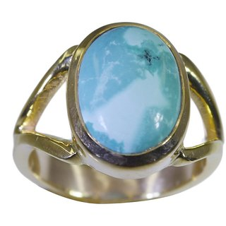 Turquoise Gold Pleted Ring graceful Multicolor handcrafted Indian gift