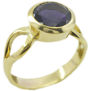 Amethyst CZ Gold Pleted Ring well-formed Purple Designer Indian gift
