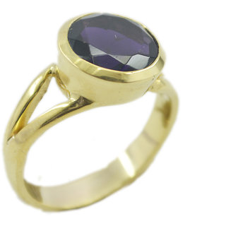 Amethyst CZ Gold Pleted Ring wonderful. Purple suppiler Indian gift