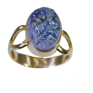 Druzy Gold Pleted Ring adorable Multicolor gemstones Indian gift