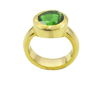 Emerald CZ Gold Pleted Ring appealing Green suppiler Indian gift