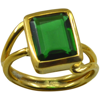 Emerald CZ Gold Pleted Ring bewitching Green supplies Indian gift