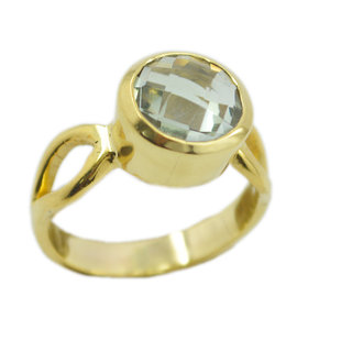 Green Amethyst Gold Pleted Ring nice Green supplies Indian gift