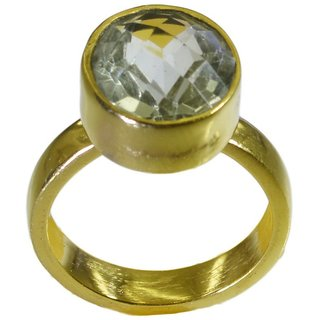 Green Amethyst Gold Pleted Ring radiant Green supply Indian gift