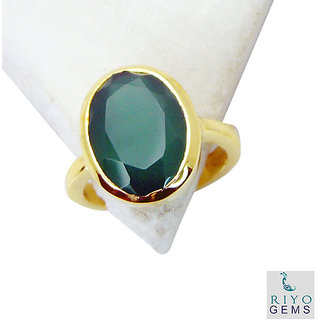 Green Onyx Gold Pleted Ring hunky Green jewellery Indian gift