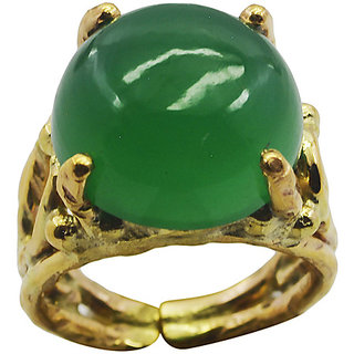 Green Onyx Gold Pleted Ring ravishing Green jewellery Indian gift