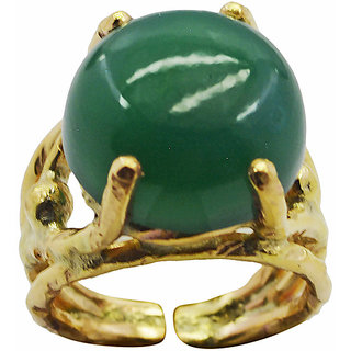 Green Onyx Gold Pleted Ring well-favoured Green jewelry Indian gift
