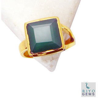 Green Onyx Gold Pleted Ring well-favored Green gemstones Indian gift