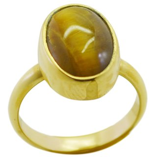 Tiger Eye Gold Pleted Ring flawless Multicolor suppiler Indian gift