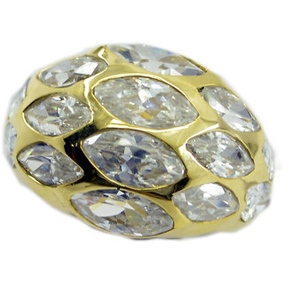 White CZ Gold Pleted Ring adorable White jewelry Indian gift