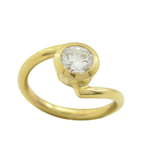 White CZ Gold Pleted Ring chocolate-box White supply Indian gift