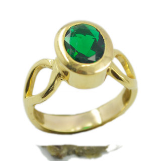 Emerald CZ Gold Pleted Ring drop-dead Green wholesale Indian gift