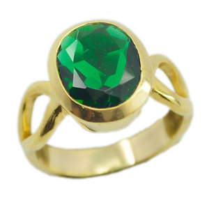 Emerald CZ Gold Pleted Ring splendiferous Green exporter Indian gift