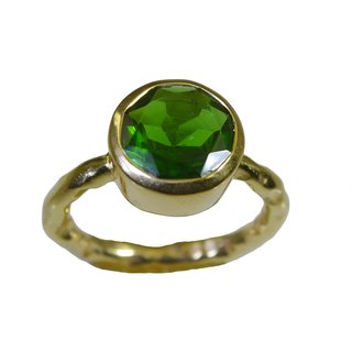 Emerald CZ Gold Pleted Ring well-favoured Green handmade  Indian gift