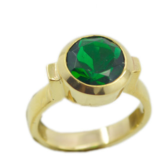 Emerald CZ Gold Pleted Ring fine-looking Green indian Indian gift