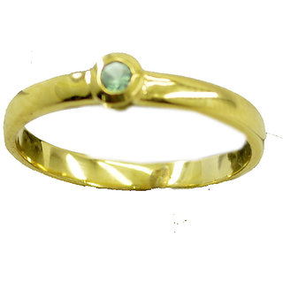 Peridot CZ Gold Pleted Ring presentable Green supply Indian gift