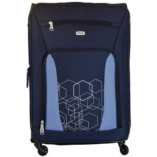 Timus Morocco Spinner Blue 75 CM 4 Wheel Strolley Suitcase For Travel Check-in Luggage - 28 inch