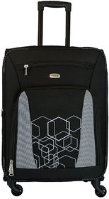 Timus Morocco Spinner Black 65 CM 4 Wheel Strolley Suitcase For Travel Check-in Luggage - 24 inch