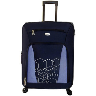 Timus Morocco Spinner Blue 65 CM 4 Wheel Strolley Suitcase For Travel Check-in Luggage - 24 inch
