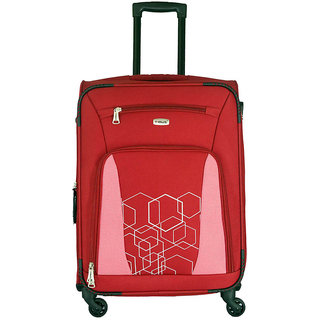 Timus Morocco Spinner Red 65 CM 4 Wheel Strolley Suitcase For Travel Check-in Luggage - 24 inch