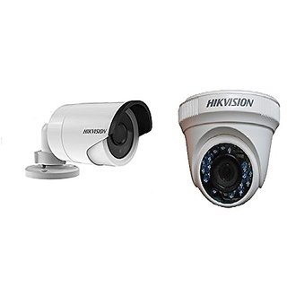 HIKVISION DS-2CE56D1T-IR Full HD1080P (2MP) CCTV Camera DOME + DS-2CE16D1T-IRP Camera Bullet