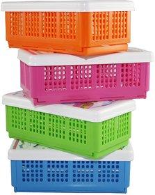 Kudos Flexi Fold Polypropylene Multi Colour Food Container Set of 4