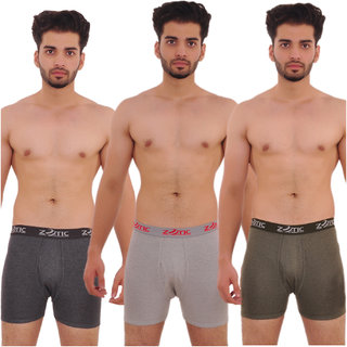 Zotic Men's Trunk 'H' Underwear For Men - Pack Of 3