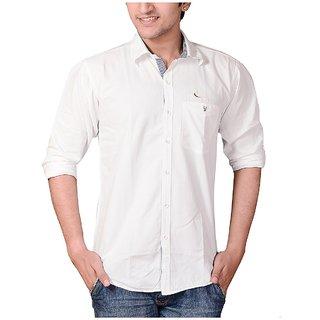 Men's Fashion White Casual Shirt
