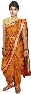 Anushka collection Rich Silk Golden Nauvari Unstitched Paithani (9 yard Saree)