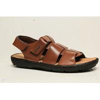 HUSH PUPPIES -Men Tan Leather Sandal