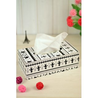 Enfin Homes Leatherite Assorted Tissue Box (Pack of 1)