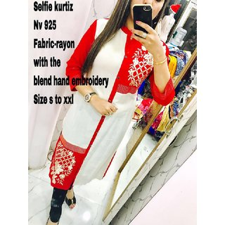 beautifully printed kurti made specially for attractive girls and women..