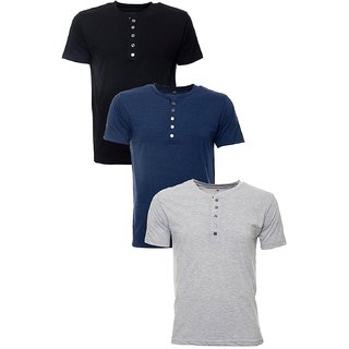 Cotton T-Shirts - Combo of 3(blue)