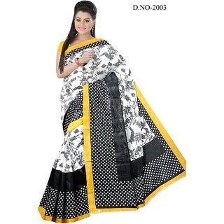 59e3fc1b207909 Buy Shri Sai International Multicolor Bhagalpuri Silk Printed Saree With  Blouse Online - Get 67% Off