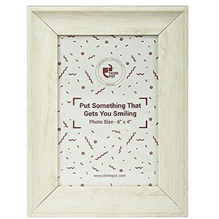 724111372cfe Buy White Wood Table   Desk Photo Frame Online   ₹980 from ShopClues