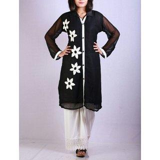 Shaba's unique collection UC black embro kurta